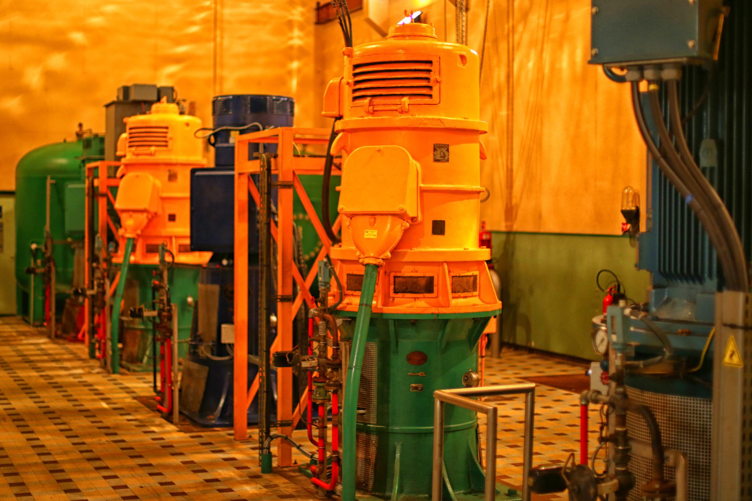 Les pompes d'extraction de l'eau de la Seine