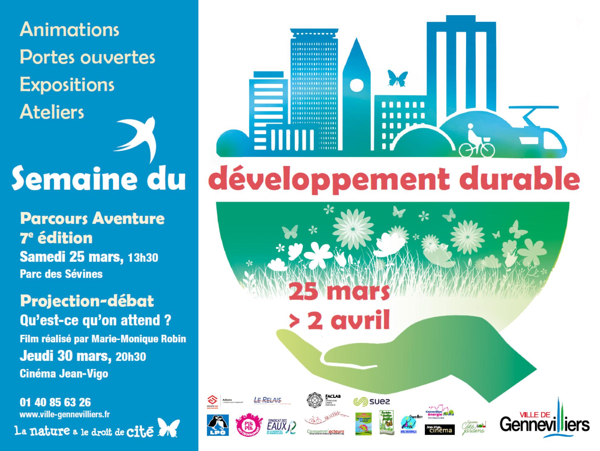 Participation à la 7e édition de la semaine du développement durable du 25 mars au 02 avril 2017 à Gennevilliers