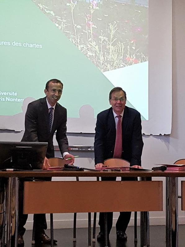 L'Université Paris Nanterre signe la Charte Objectif zéro phyto en Seine Centrale Urbaine