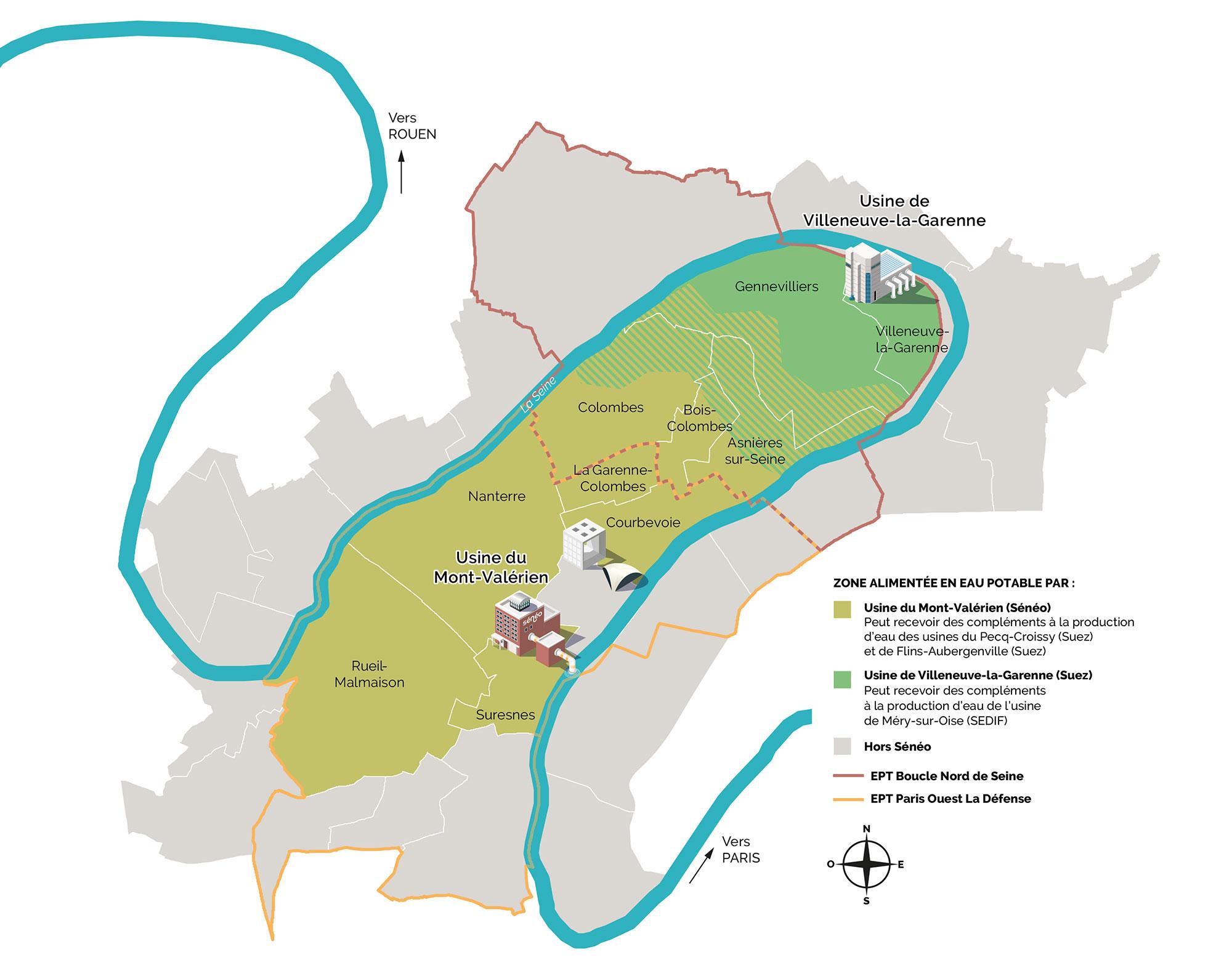Provenance des eaux distribuées sur le territoire de Sénéo