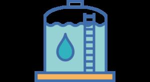 15 réservoirs d'une capacité de stockage cumulée de 86 400 m3