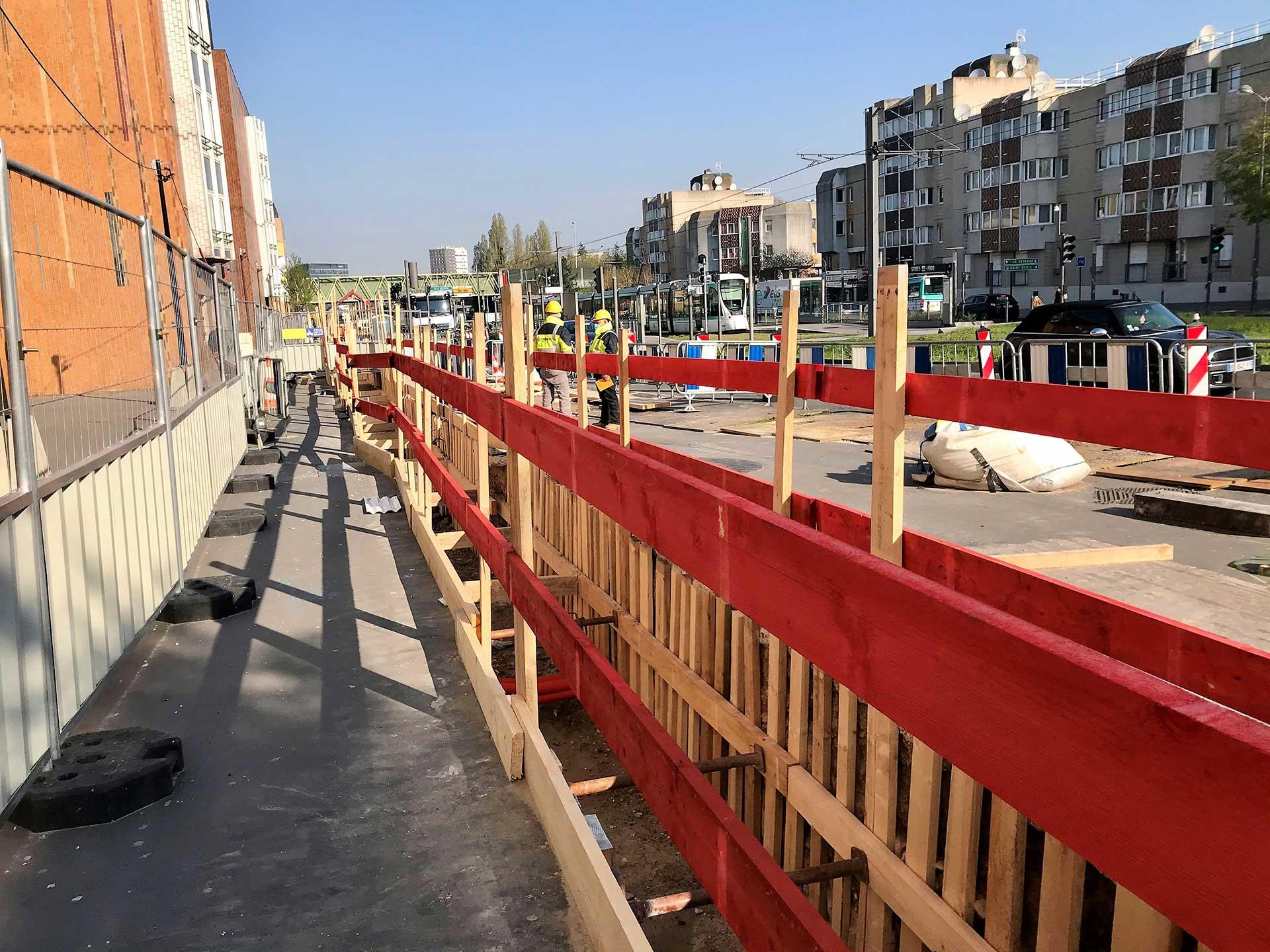 Sénéo réalise un chantier de grande ampleur pour l'extension du tramway T1 à Colombes